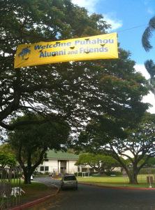 "As the sign says, ""Welcome Punahou Alumni and Friends."" Let's develop a reunion that welcomes all Punahou74 classmates!"