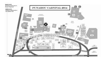 2014 Punahou Carnival Map
