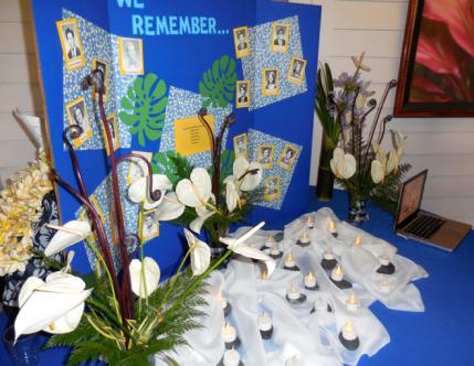 Memorial Service Display