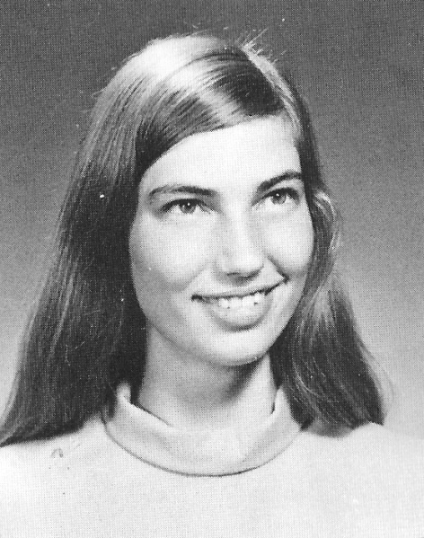 Alice Rolph as pictured in the senior section of the 1974 Punahou Oahuan.