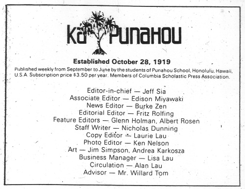 KaPunahou Staff