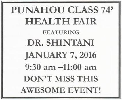 Punahou74 Senior Fair