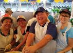 Fred Hu and his harem: Lynne Obatake Yorita, Babs Miyano Young, Lee Ann Nicolay