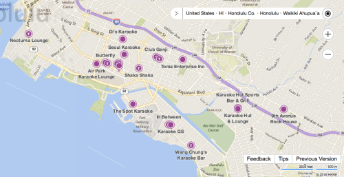 Honolulu Karaoke Locations