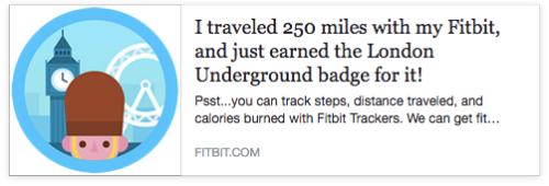 Fitbit 250 miles